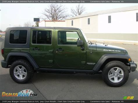 jeep dark gray 2008 jeep wrangler unlimited rubicon 4x4 jeep green