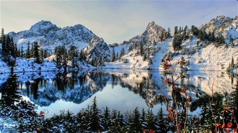 classic mountain scene mountains nature background