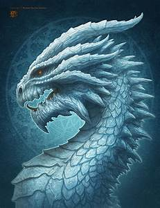 Ice Dragon by kerembeyit on DeviantArt