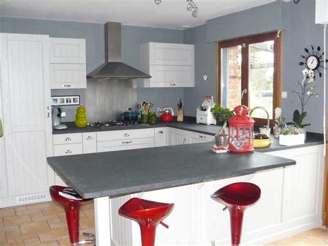 meubles hauts cuisine cuisine equipée chêne blanc gris cuisines liebart