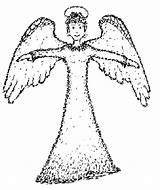 Coloring Angel sketch template