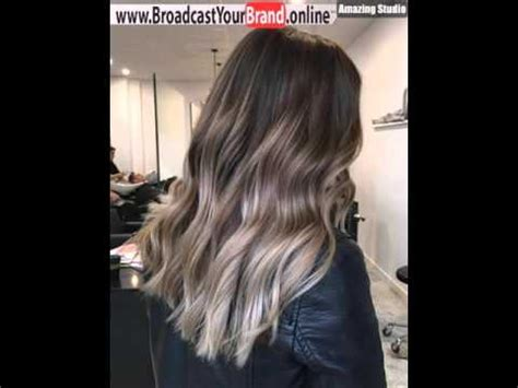 chocolate brown hair color brown hair with ash ombre highlights