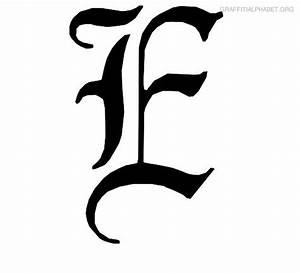 Graffiti Alphabet E Graffiti Letter E Printables ...