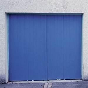 Porte de garage bleue composite polyhabitat volet for Porte de garage et volet composite