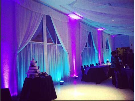 wedding  lakeside reception hall  teal  purple