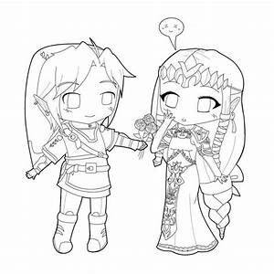 Cute Chibi Couple Coloring Pages Sketch Coloring Page