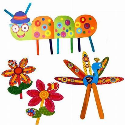 Popsicle Cartoon Stick Paper Children Toys Craft