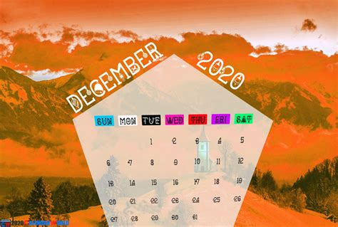 december  calendar wallpaper  iphone desktop tablets