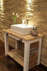 Waschtische Holz Mit Aufsatzwaschbecken : holz waschtisch mit aufsatzbecken ~ Lizthompson.info Haus und Dekorationen