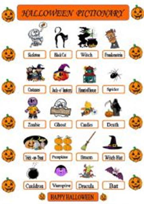 halloween pictionary esl worksheet  powerade