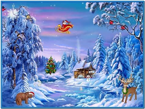 Windows 7 Christmas Screensaver  Download Free
