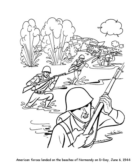 veterans day coloring pages world war ii d day