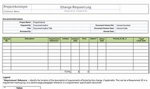 Perform project integrated change control templates for Change log template project management