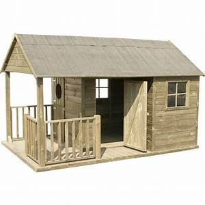 Cabane Bois Leroy Merlin : maisonnette bois manon cerland 4 6 m une cabane au fond du jardin garden playhouse play ~ Melissatoandfro.com Idées de Décoration