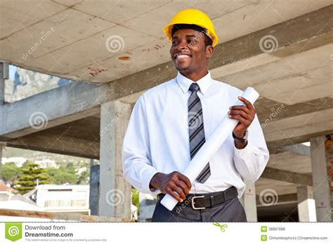 African Man In Building Site Stock Photo  Image 38897688