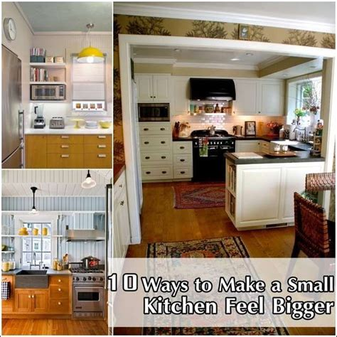how to make a small kitchen look bigger 10 tips to make a small kitchen appear bigger kitchens pinterest small kitchens a small