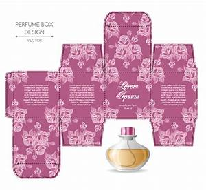 perfume box packaging template vectors material 01 free With cologne box template