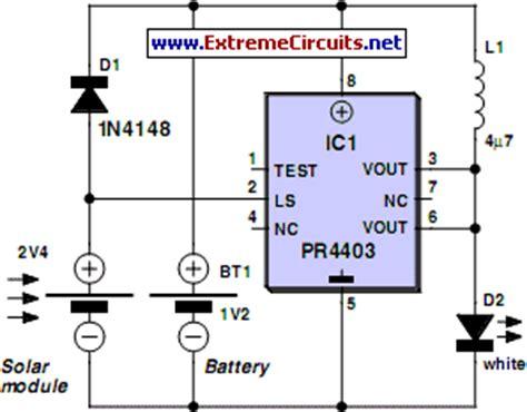 how to build solar l using pr4403 circuit diagram