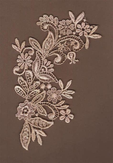 lace applique dyed floral venise lace applique floral scroll