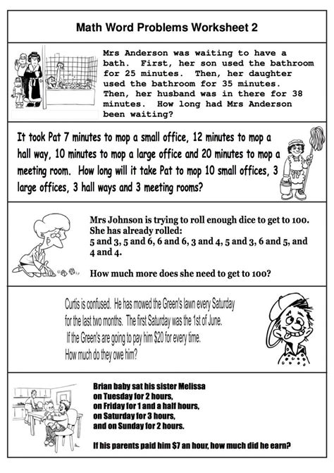 2nd grade math word problems best coloring pages for kids