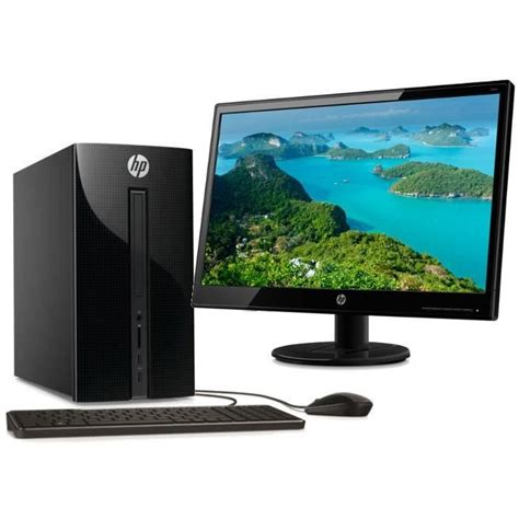promo pc bureau hp pc de bureau 460a001nf noir 4go de ram windows