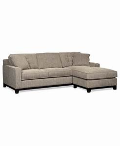 clarke fabric 2 piece sectional sofa furniture macy39s With sectional sofa bed macys