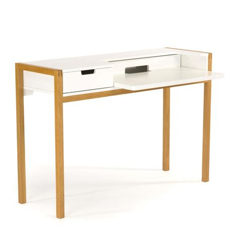 bureau bois blanc bureau scandinave farringdon par drawer fr