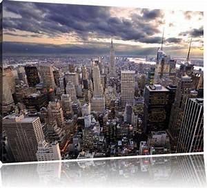 New York Leinwand : new york skyline format 120x80 cm auf leinwand xxl riesige bilder fertig gerahmt mit ~ Markanthonyermac.com Haus und Dekorationen