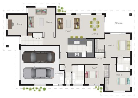 house plans with media room g j gardner wright plan 3 bedroom floor plan with study