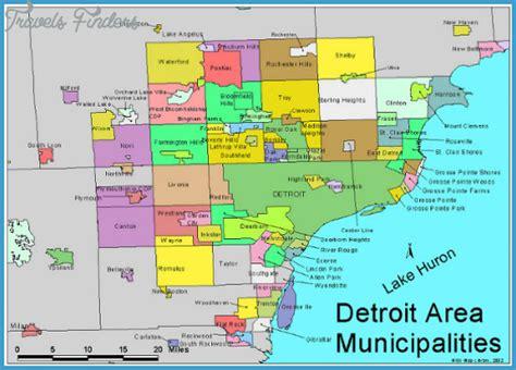 detroit metro map travelsfinderscom