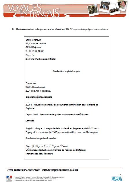 Rediger Un Cv En Francais by 201 Pingl 233 Par La Salle Des Profs Sur Fran 231 Ais Professionnel
