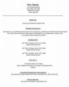 22 blank resume templates free pdf word documents for Blank resume template word