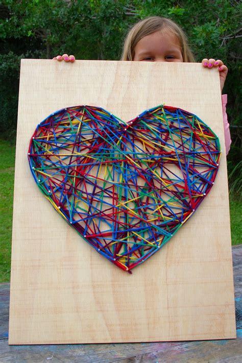 kraftyguts kids craft idea string art