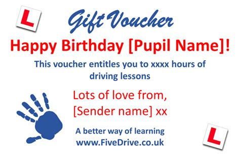 gift vouchers fivedrive