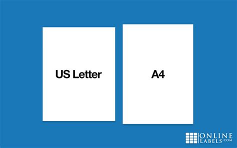 letter size vs a4 what s the difference between a4 and us letter paper 29019