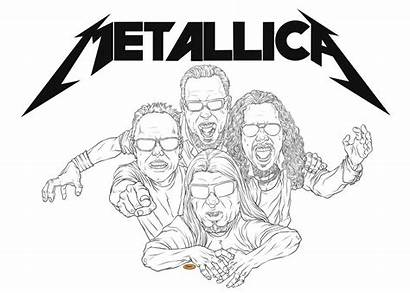 Coloring Pages Metallica Colouring Printable Sheets Star