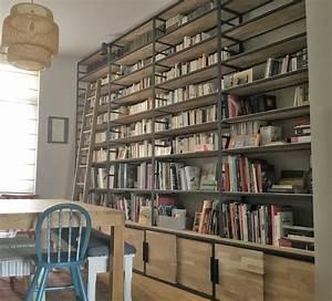 Bibliothèque Métal Et Bois : biblioth ques m tal et bois sur mesure la maison de l 39 imaginarium ~ Teatrodelosmanantiales.com Idées de Décoration