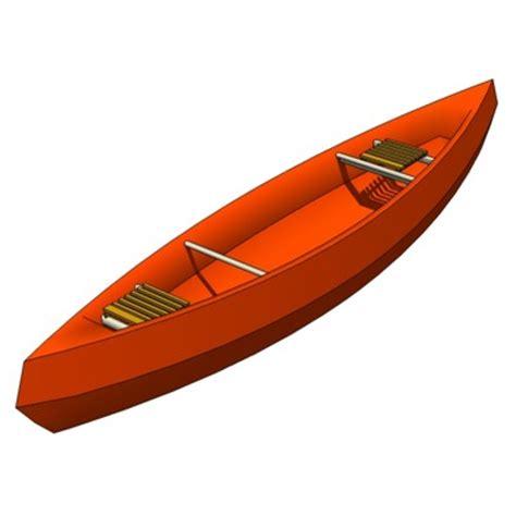 Canoe Boat Pose by Modern Canoe 3d Model Formfonts 3d Models Textures