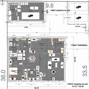 plan maison 200m2 plein pied With plan maison 200m2 plein pied