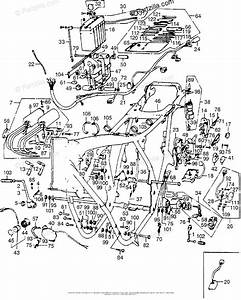 Honda Motorcycle 1976 Oem Parts Diagram For Frame    Wire Harness