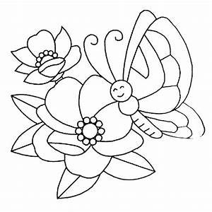 Coloring Pictures Of Flowers And Butterflies - Beautiful ...