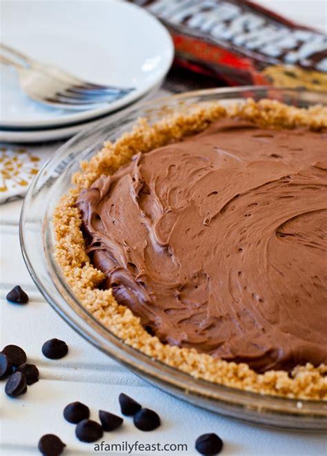 chocolate cheesecake tart no bake chocolate cheesecake pie a family feast
