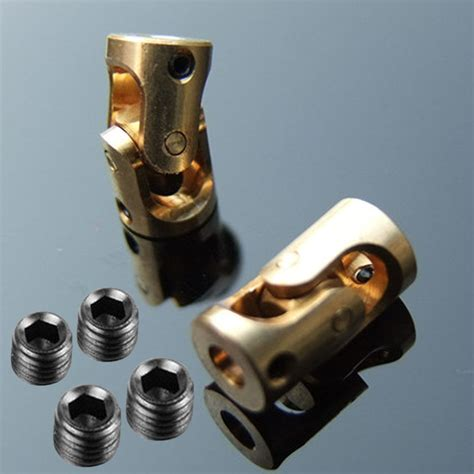 pcs brass universal joint coupling coupler mm  mm  rc model car boat ebay