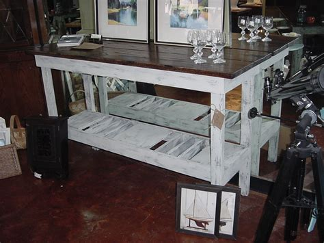 5 Distressed Oak Top Wine Bar Buffet Table Just