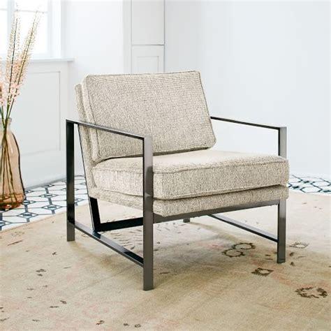 metal frame chair dove gray gravel west elm