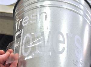 this galvanized flower bucket is everything for your With transfer tape for vinyl lettering
