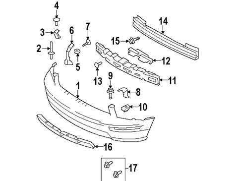 Parts Ford Front Bumper Components