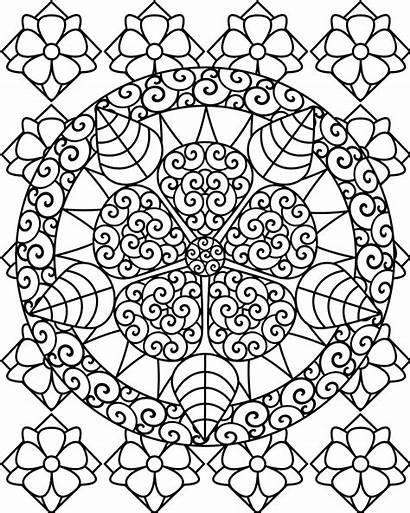 Coloring Pages Therapy Mandala Printable Sheets Colouring