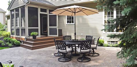 sted concrete patio with trex deck in avon lake brian