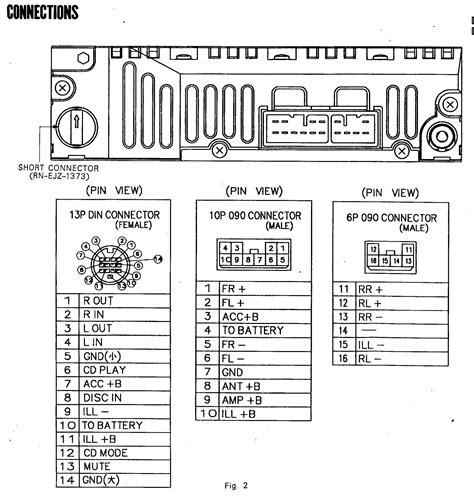 toyota radio wiring harness diagram schematic